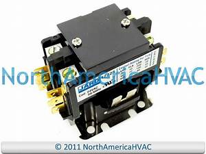 24 Volt Condenser Contactor Relay  Double 2 Pole 40 Amp