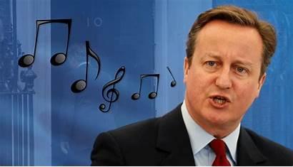 Cameron David Humming Tune Giff Tory Evil