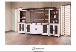 Entertainment center with pier and bridge by international for Furniture home center buy online