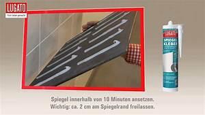 Spiegel Befestigung Wand : anleitung spiegel kleben und anbringen mit lugato spiegelkleber youtube ~ Orissabook.com Haus und Dekorationen