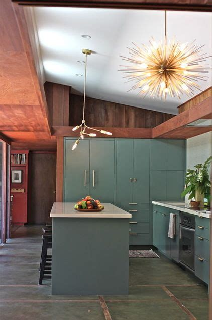 stylish  atmospheric mid century modern kitchen