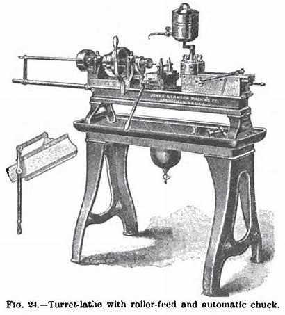 Lathe Lamson Jones 1895 Turret Chuck Roller