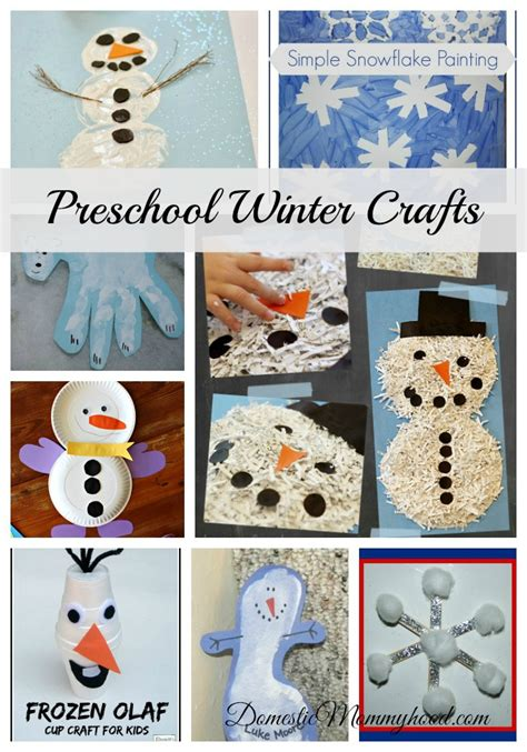 preschool winter crafts domestic mommyhood 726 | winter crafts