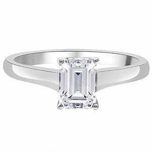 julia engagement ring emerald cut diamond engagement ring With julia wedding rings