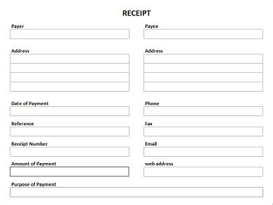 blank receipt template free printable receipt