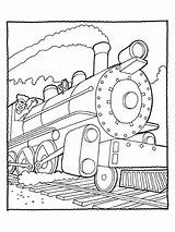 Coloring Train Pages Choo Steam Popular sketch template