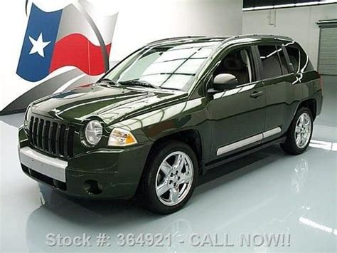 jeep compass sunroof find used 2007 jeep compass ltd 4x4 htd leather sunroof