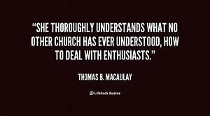Church Quotes P... Macaulay Thomas Quotes