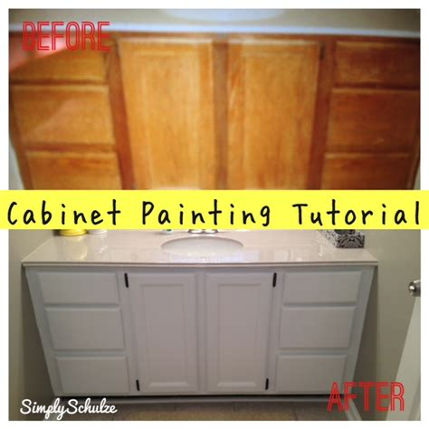 Bathroom Cabinet Makeover Ideas by Bathroom Vanity Makeover Cabinet Painting Tutorial