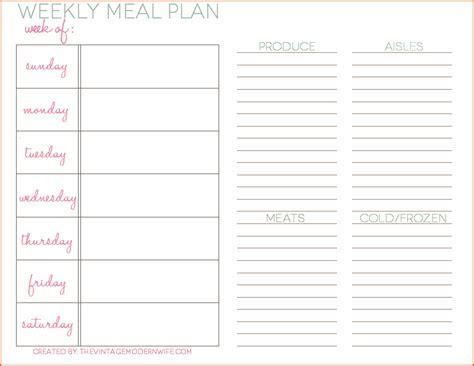 Weekly Meal Planner Template 8 Weekly Meal Planner Template Bookletemplate Org