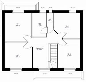plan maison etage 2 chambres plan maison meubl maison With ordinary plan de maison 100m2 13 habitats modulaires