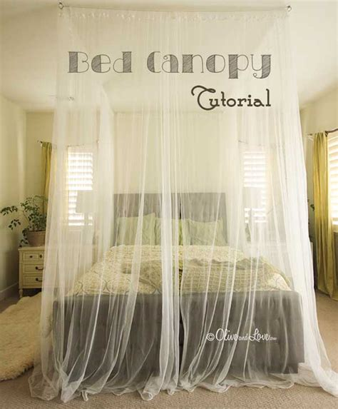 sheer white curtain panels 20 magical diy bed canopy ideas will you