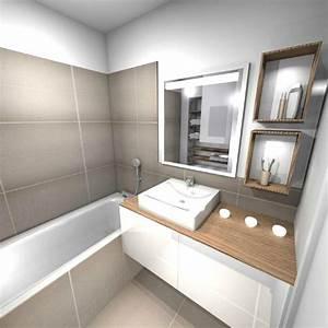 Salle De Bain 3m2 : amenagement petite salle de bain 3m2 ~ Dallasstarsshop.com Idées de Décoration