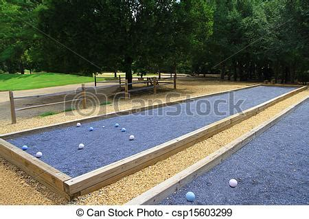Stock Photographs of Upscale beautiful bocce courts - Two ...