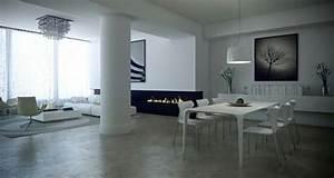 Decoration Interieur Moderne : design chic ou un salon noir et blanc unique design feria ~ Teatrodelosmanantiales.com Idées de Décoration