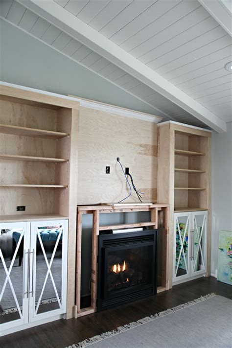 diy fireplace built  tutorial iheart organizing
