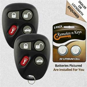 2 New Replacement Keyless Entry Remote Car Key Fob