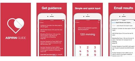 evidence based aspirin guide app