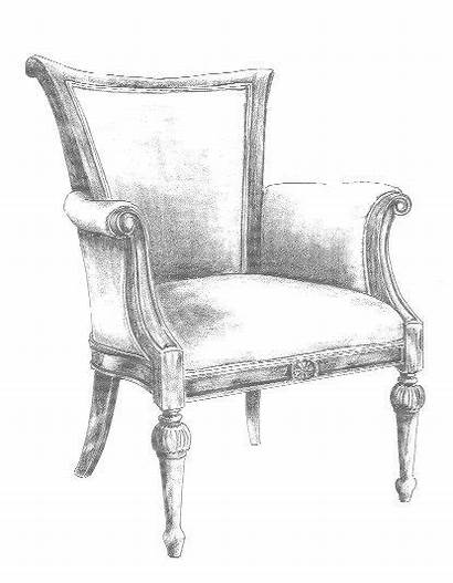 Chair Sketch Sketches Drawing Furniture Chairs Easy