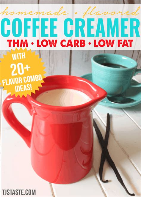 Get to know all about keto coffee, low carb coffee, butter coffee and bulletproof coffee. Creamer • Homemade Flavored Coffee Creamer • THM, Low Carb, Low Fat • TJsTaste.com