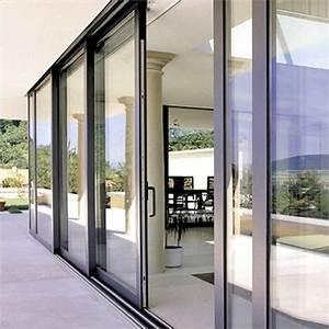 Wood and aluminum exterior sliding glass doors for Glass sliding doors exterior