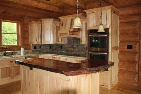 Natural wood countertop   Traditional   Kitchen