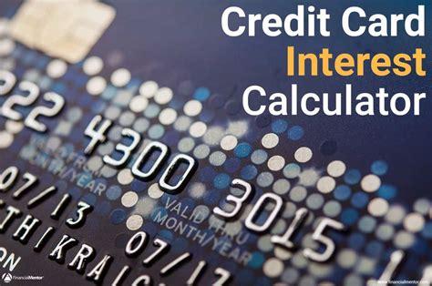 credit card interest calculator   interest