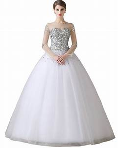 ball gown wedding dress with sleeves 2016 vestidos de With sleeves for wedding dress