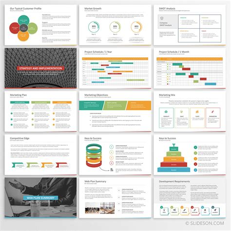 business plan template powerpoint  straightforward