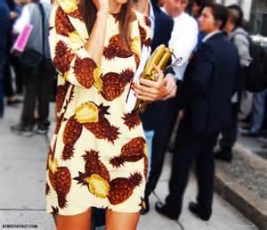 Pineapple Print Dress