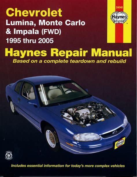 car repair manuals online pdf 2006 chevrolet monte carlo engine control lumina haynes manuals