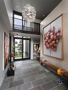 Teak shower floor entry modern with catwalk ceiling