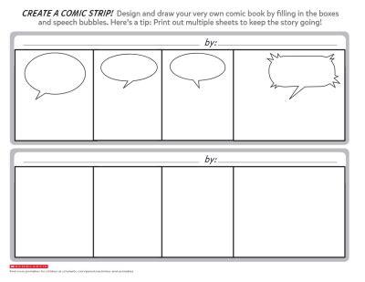 create a comic printable template worksheets printables scholastic parents