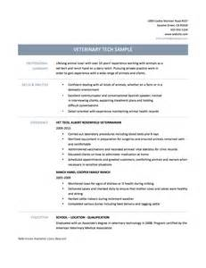 Resume Format For Veterinarians by Vet Tech Resume Sles Dietitian Consultant Sle Resume