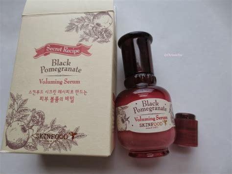 skinfood black pomegranate volumining serum review chrissie reviews
