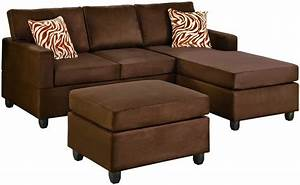 Brown sectional sofa for small space with chaise and for Small sectional sofas with chaise lounge