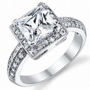 princess cut engagement rings princess cut engagement With princess cut wedding rings 2 carat