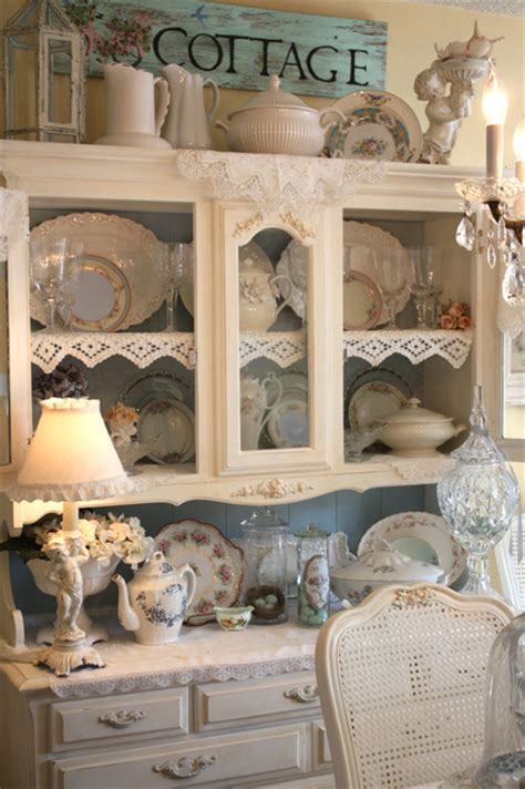 shabby chic dining room hutch cottage