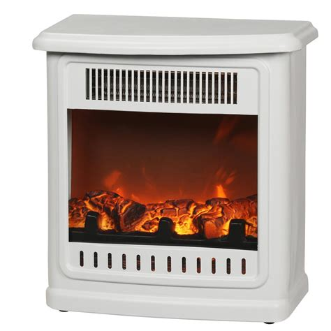 desktop electric fireplace real thayer 54 in electric fireplace in white 5010e