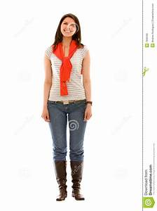 Casual Woman Standing Stock Photo - Image: 7936100