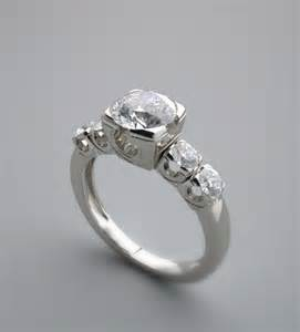 engagement ring settings vintage style fishtail engagement ring setting
