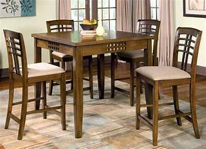 Rich Walnut Counter Height Dining Room Set Counter