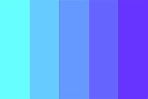 purple or blue color palette