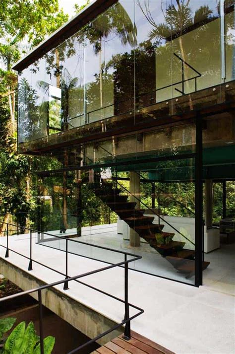small glass house   middle  nature sao paulo