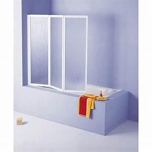 Pare Baignoire 60 Cm : pare baignoire 3 volets pivotant pliant cmx cm ~ Dailycaller-alerts.com Idées de Décoration