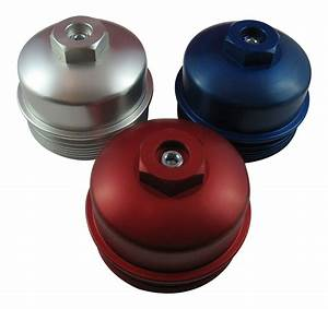 6 4l Powerstroke Billet Aluminum Oil Filter    Lower Fuel Filter Cap  Mpec02