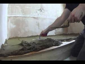 How to install a shower tray base and silicone sealant for Installing a shower tray on concrete floor