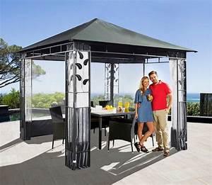 Sonnenschirm Rechteckig 3 X 4 : pavillon bl tter 3x3m anthrazit inkl 4 seitenteile online kaufen otto ~ Frokenaadalensverden.com Haus und Dekorationen