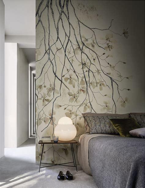 fresque murale chambre b wallpaper ramage by wall decò design antonella guidi