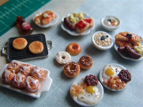 cuisine miniature dollhouse miniature oatmeal and other breakfast